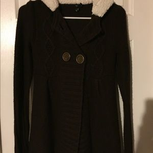 Cardigan with button front